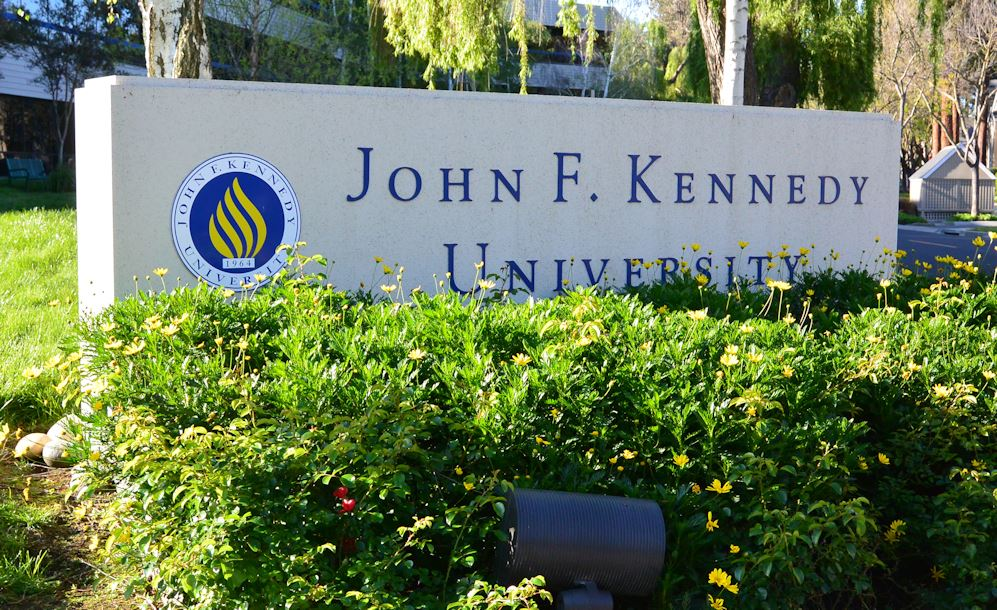 jfk university monument sign