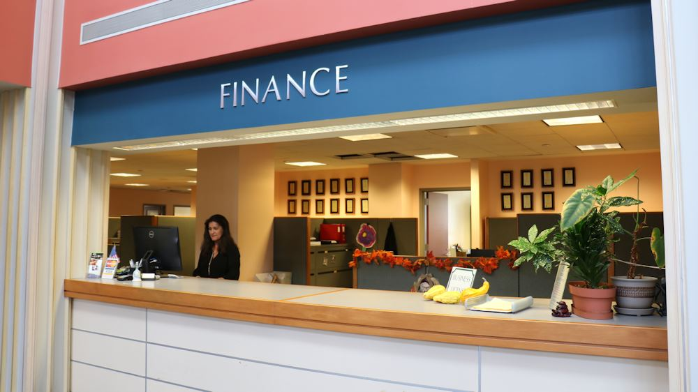 Finance  Counter at City Hall