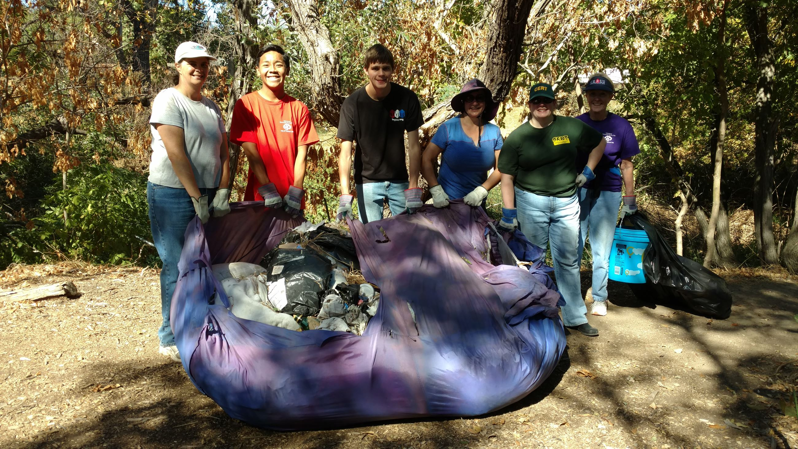 Ellinwood Creek - A Third of the Mess in the Giant Bag