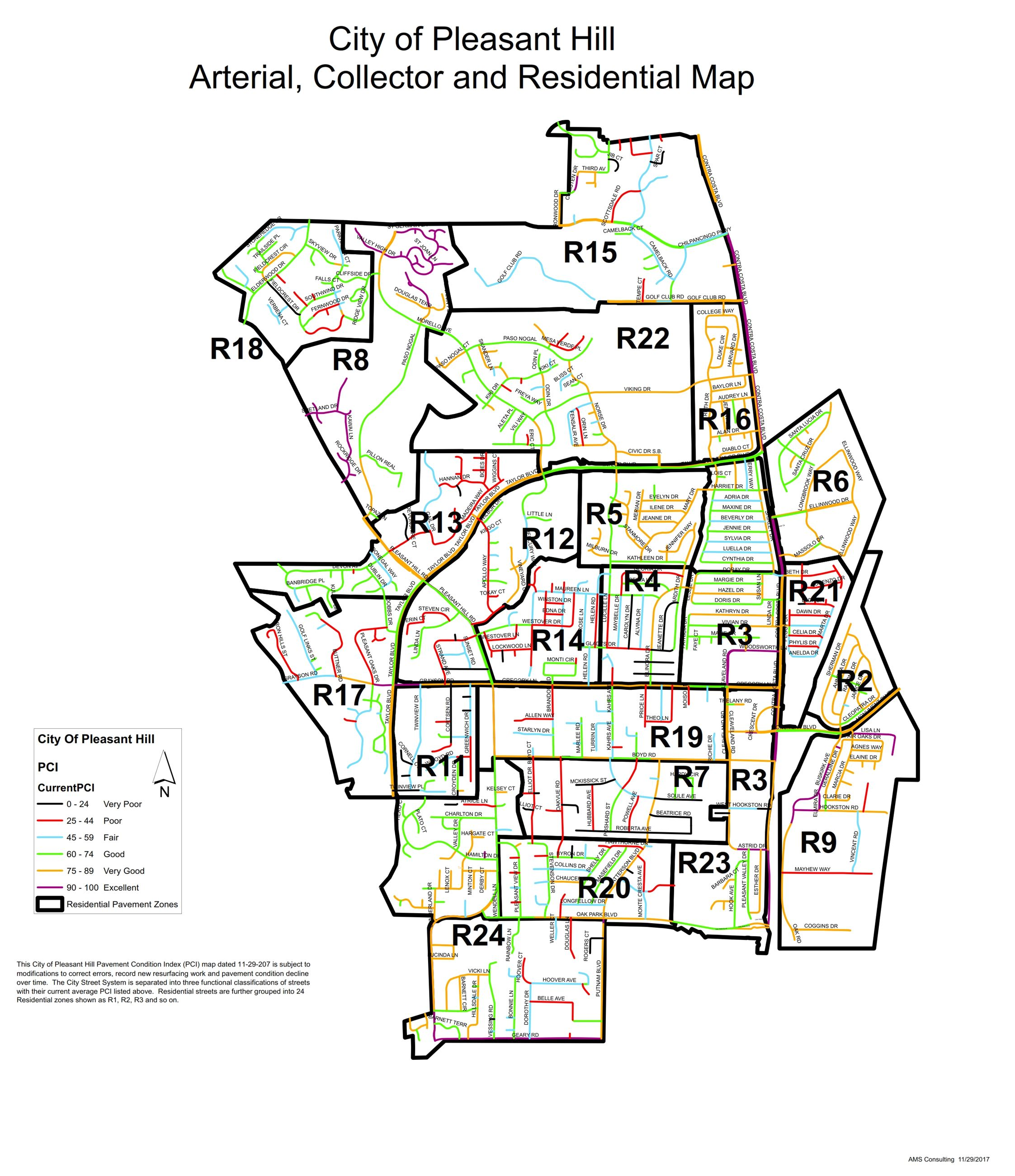 Artrial Collector and Residential Streets
